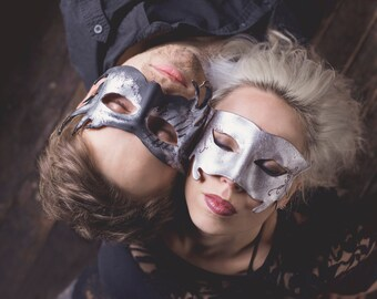 Silver Leather Mask
