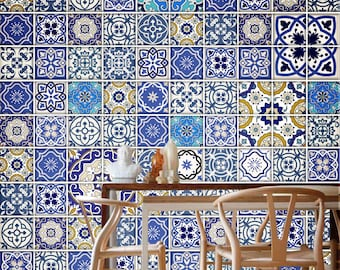 Talavera Traditional Tiles - Tile Decal - Kitchen Tiles - Backsplash tile - Backsplash Decal - Bathroom Tile - Pack of 100 - SKU:TATI