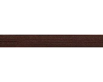"Brown - 1/4"" Soft Skinny Elastic - 1/4-SSE-018"