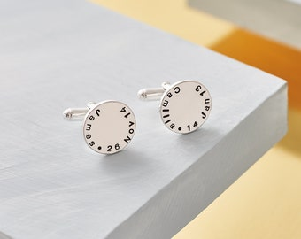 Cufflinks with Children's Names / Personalised Daddy Cufflinks / Father's Day Cufflinks / Cufflinks for Dad / New Dad Gift / Present for Dad