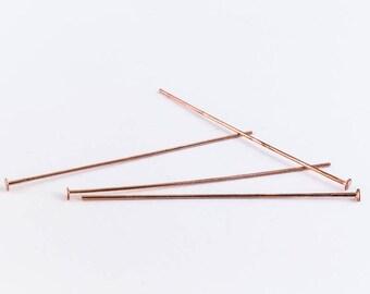 """1.5"""" Bright Copper Head Pin #HPA018"""