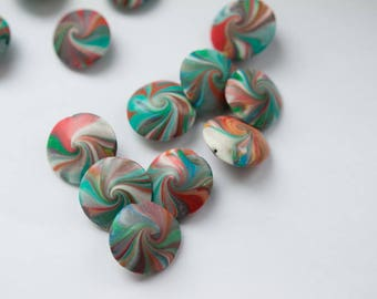 Multicolored beads. 4 pieces