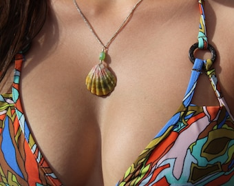 Sunrise Shell Necklace (Silver)