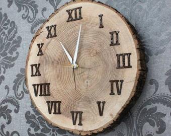 Maple Live Edge Clock