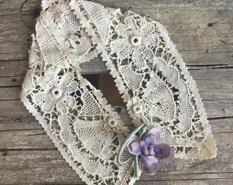Antique Lace Collar, Edwardian
