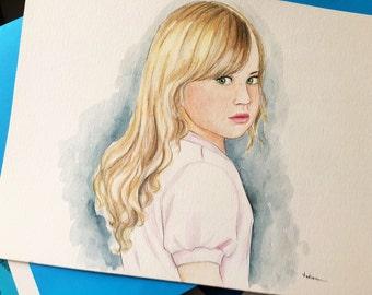 Custom portrait.Children's portrait. Personalized drawing. Kid's drawing. Custom gift. Wall art