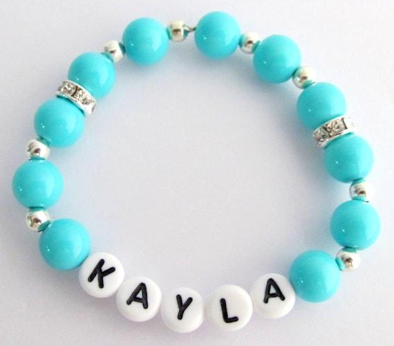 Baby Name Bracelet Baby Girl Gift Custom Name Bracelet Kids Beracelet Children Bracelet Custom Pearl Name Bracelet Free Shipping In USA
