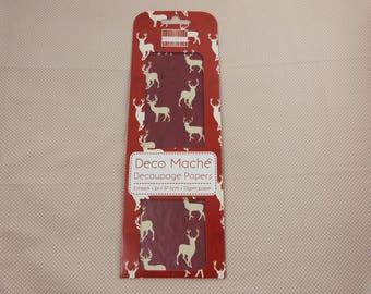 Pack of leaves for decopatch decoupage, deer