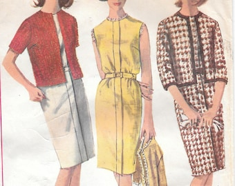 Bust 38-1965 Misses' Dress and Jacket Simplicity 6047 Sz 18