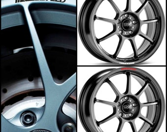 x8 Mazda MAZDASPEED Rims Alloy Wheel Decals Stickers Curved Graphics Kit - Miata Mps RX-7 RX-8 2 3 6 Mx5 Speed
