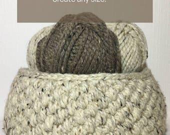 Easy Basket Crochet Pattern/ Crochet Pattern Large Basket/ Crochet Pattern Easy Basket/ Easy Basket Crochet/ Crochet Pattern Basket/ Basket