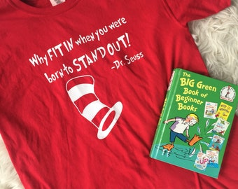 Dr. Seuss Inspired Cat in the Hat Tshirt