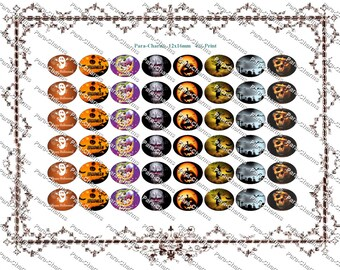 Halloween -12x16mm Paracord Shoelace Charms  template Instant download