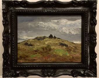 Icelandic Landscape oil painting plein air