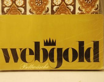 Bettbezug unbenutzt und Originalverpackt - Marke Webgold aus den 70er Jahren - mit Rauten Ornamente Blüten Motiv
