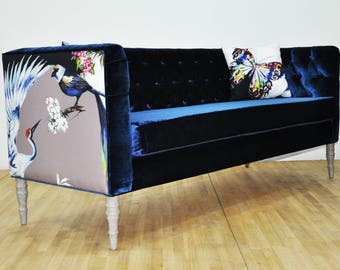 "Loveseat - blue bird ""3 seater sofa"""