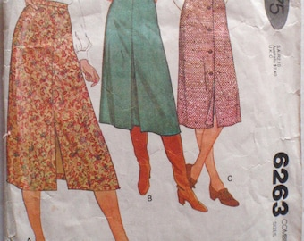Quick and Easy Skirt Sewing Pattern - McCall's 6263 - Sizes 6-8-10, Waist 23 - 25