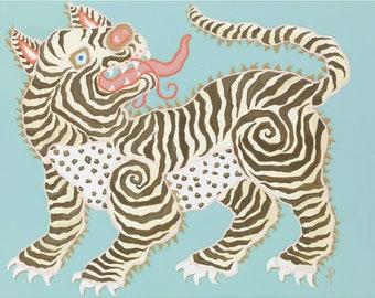 Tibetan Tiger II ART PRINT