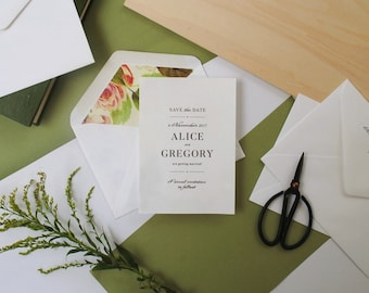 Print-It-Yourself Vintage Style Garden Wedding Save the Dates, Custom Save the date cards, vintage roses -- Alice