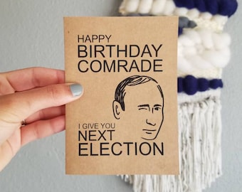 Putin Birthday Card - Happy Birthday From Vlad