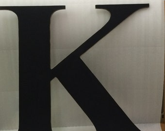 "Big Wooden letter K capital, 36"" wedding guest book, unique, alternate. Wall decor, dorm room decor, wedding guestbook, crafted sign."