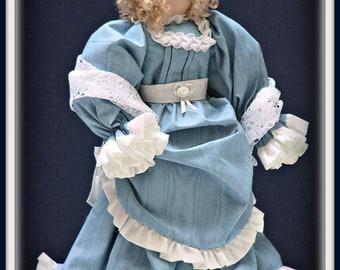 Mattie Victorian Faceless Lady Art Doll E-Pattern