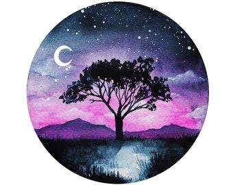 Moonlight Circle Print