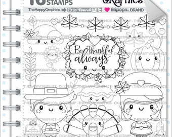 Thanksgiving Stamp 80OFF Commercial Use Digi Digital Image Digistamp Autumn Party