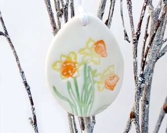Easter Decoration, Easter Decor, Easter Ornaments, Easter Egg Decoration, Easter Gift Tags, Welsh Gifts, Daffodil Decor, Daffodil Decoration