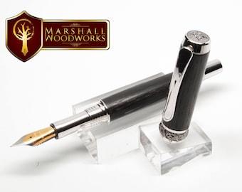 Fountain Pen - Celtic Pen - Handmade Pen  - Rollerball pen - wood pen - Irish pen - gift for him - fine pen - rollerball pen - Custom pen