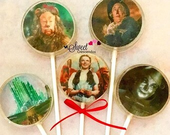 Beautiful Oz Lollipops- Hard Candy Lollipops- Birthday- Babyshower-Wedding-Bridalshower