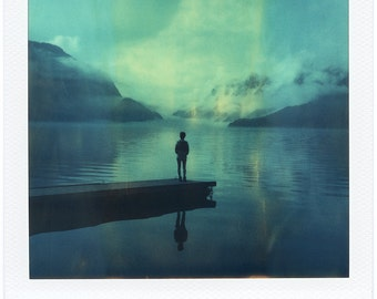 Norway, Odda, Old Polaroids, SX70, Polaroid Photography, Mountains, SX 70, Person, Landscape Photography, Eerie, Cold Morning, Norwegian
