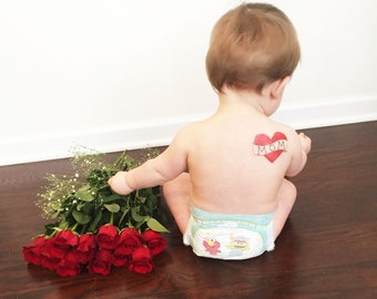 mothers day gift for mom fake tattoo for kids red heart tattoo photography supply children photoshoot prop mothers day present mum tattoo