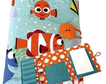 Crayon Organizer / Crayon Wallet / Crayon Tote / Travel Toy - Fish