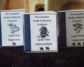 1 Miniature Halloween    'Witch  Wizard Guide to Mystical Creatures'   -  Dollhouse miniature 1/6   1/12   1/24    1/48   playscale