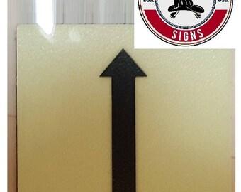 """Photoluminescent Door Identification Letter """"One Arrow Up """" Sign/ Glow In The Dark """"Door Number"""" Sign Heavy Duty (Aluminum Sign 1.5 X 1.5)"""