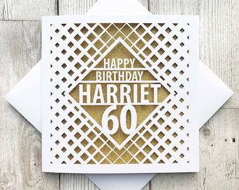 60th birthday card etsy personalised happy 60th birthday happy 60th 60th birthday cards laser cut birthday bookmarktalkfo Image collections