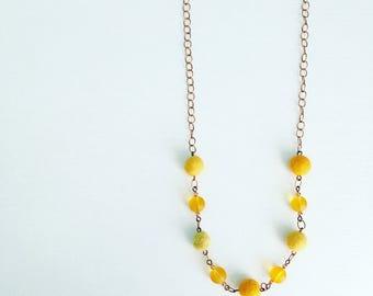 Newport Felt Necklace in Lemon