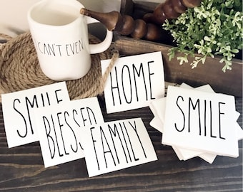 Rae Dunn Inspires Decals | Add to coasters, canisters, mugs, dishes, wood signs, and more!!