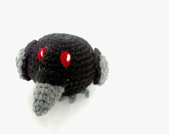Mini Raven Stuffed Animal - Mini Raven - Small Raven - Crow Stuffed Animal - Small Crow - Black w gray beak - Plush Toy - Machine Washable
