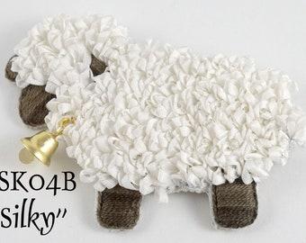 "TSK04BP - ""Silky"" Sheep Ornament/Brooch Embroidery Pattern"