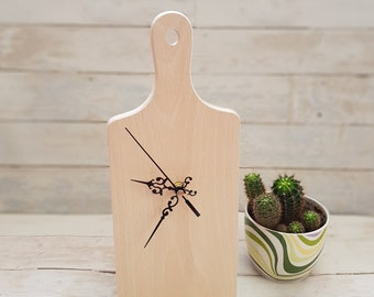 Kitchen Clock-face for DIY projects. Unfinished Wooden Clock. Wall Clock face
