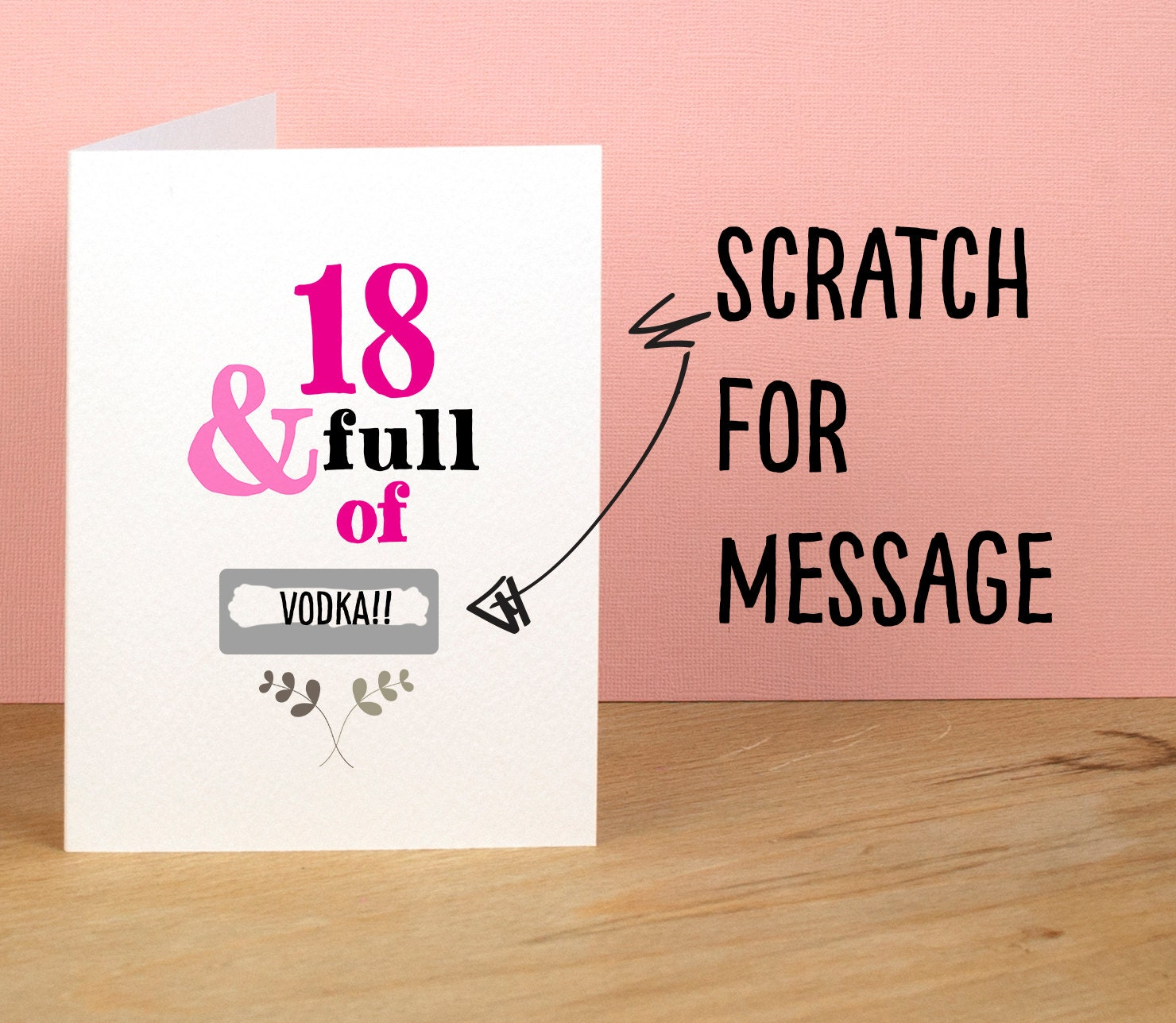 18th birthday card 18 and full of rude sarcastic humorous zoom bookmarktalkfo Images