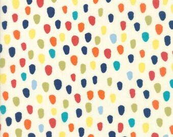 Hello World Specks fabric in Cream by Abi Hall for Moda Fabric  #35303-11