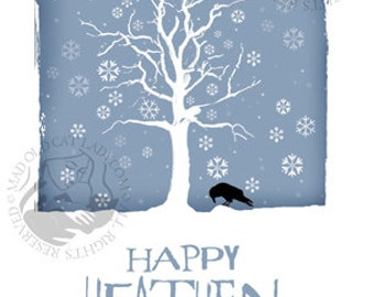 Happy Heathen Holidays greetings card