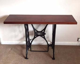 William sellers metal and wood side /console table