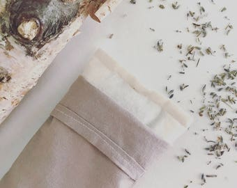 Organic Lavender and Flax Eye Pillow- Avocado Pit and Iron Dyed Removable cover.