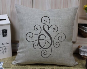 Monogrammed Pillow Cover - Personalized Pillow Cover - Monogrammed Gift - Birthday Gift - Wedding Gift