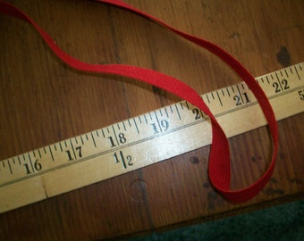 antique military red wool braid