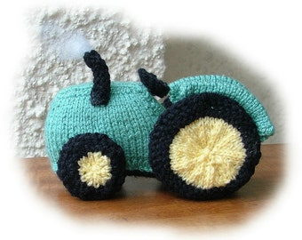 TRACTOR Toy Knitting Pattern by Georgina Manvell